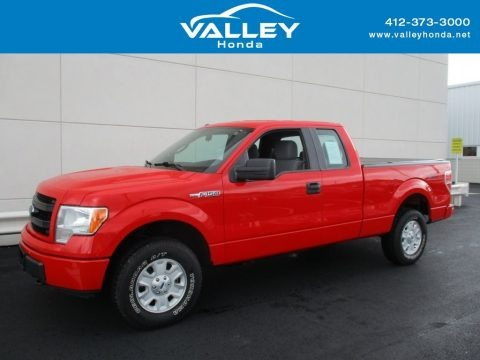 Race Red 2013 Ford F150 XL SuperCab 4x4