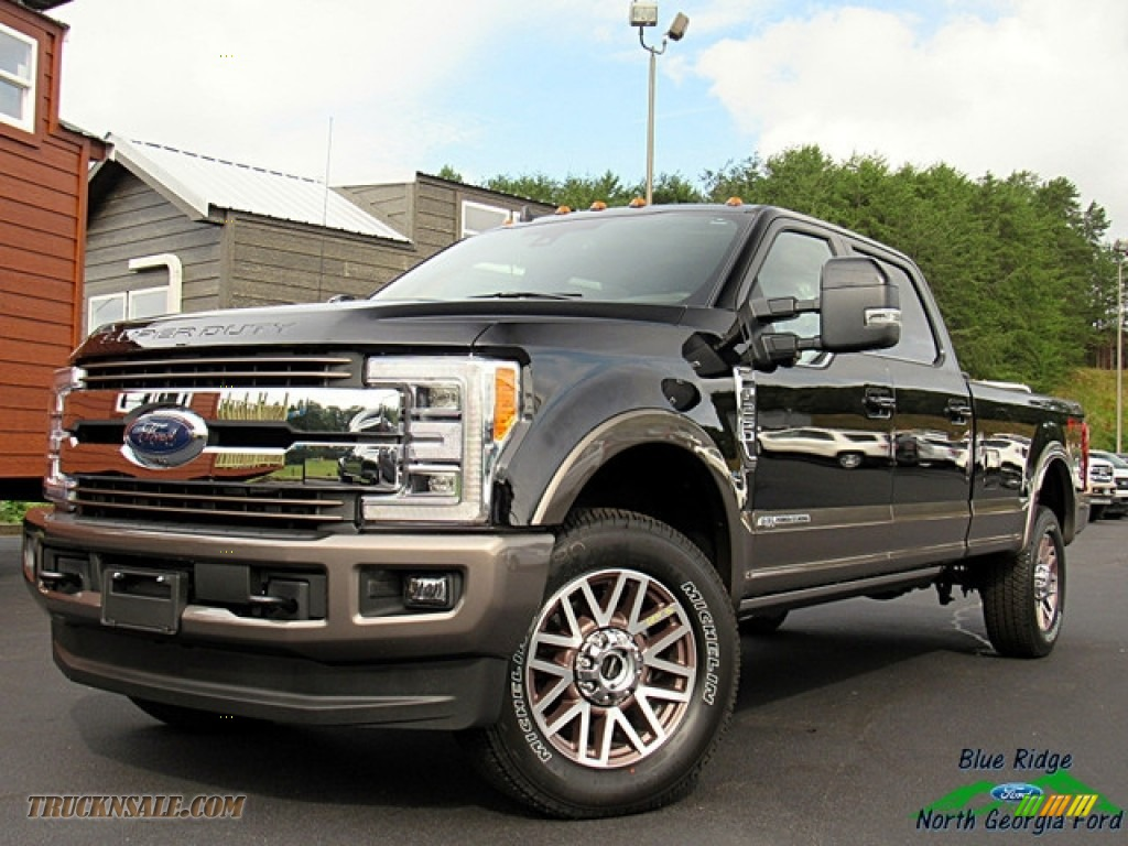 2019 F250 Super Duty King Ranch Crew Cab 4x4 - Agate Black / King Ranch Java photo #1