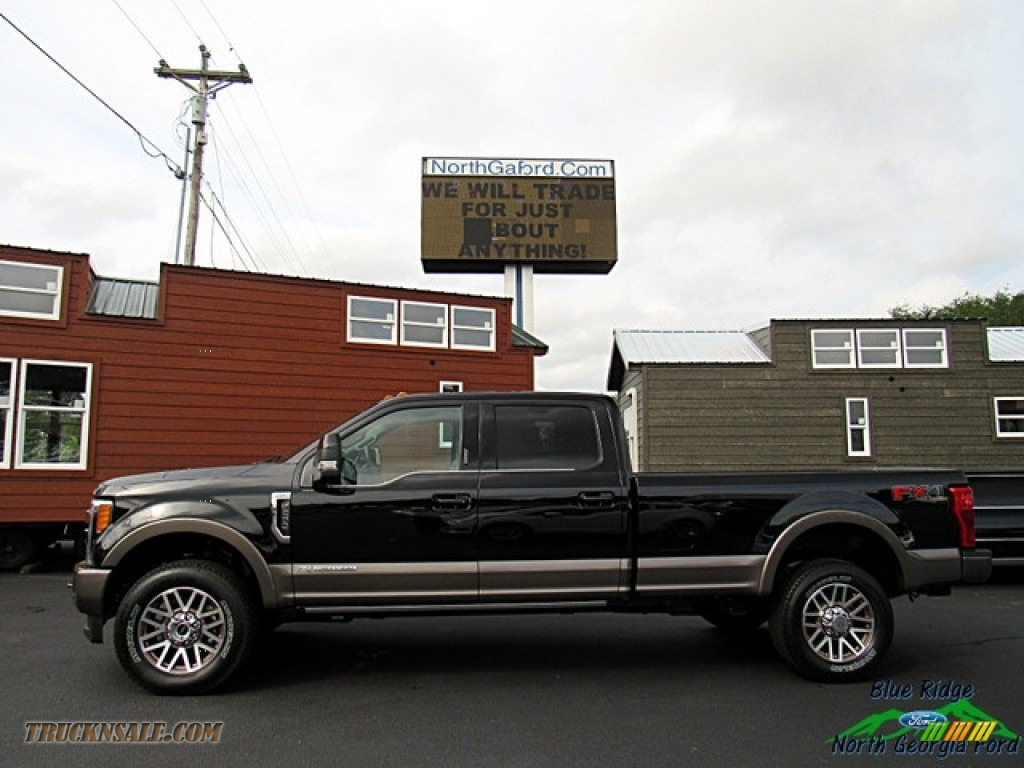 2019 F250 Super Duty King Ranch Crew Cab 4x4 - Agate Black / King Ranch Java photo #2