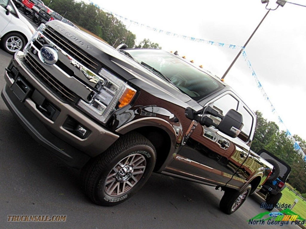 2019 F250 Super Duty King Ranch Crew Cab 4x4 - Agate Black / King Ranch Java photo #33