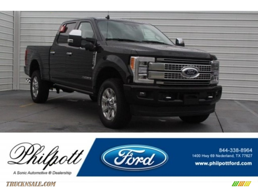 Agate Black / Black Ford F250 Super Duty Platinum Crew Cab 4x4