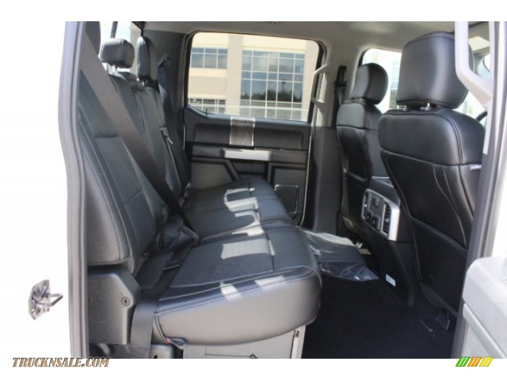 2019 F250 Super Duty Lariat Crew Cab 4x4 - Oxford White / Black photo #27