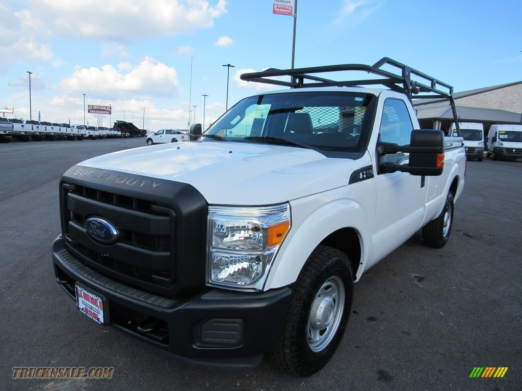 Oxford White / Steel Ford F250 Super Duty XL Regular Cab