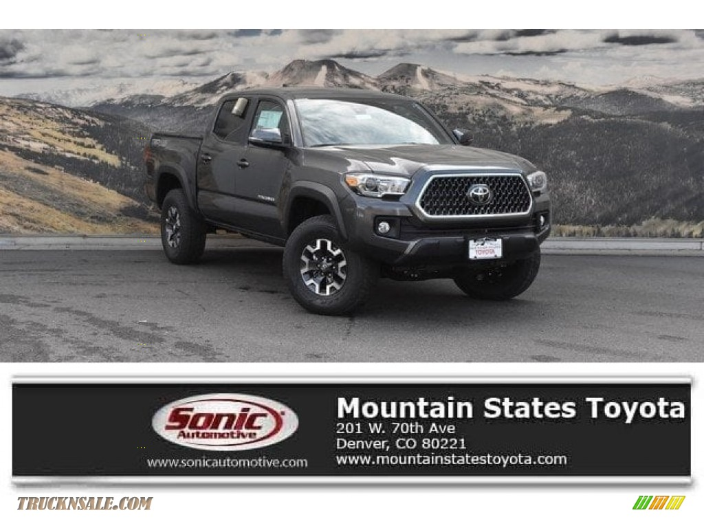 2019 Tacoma TRD Off-Road Double Cab 4x4 - Magnetic Gray Metallic / Black photo #1
