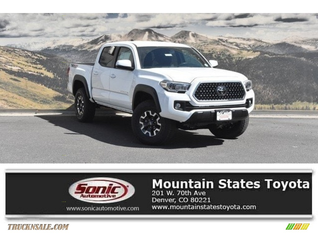 Super White / TRD Graphite Toyota Tacoma TRD Off-Road Double Cab 4x4