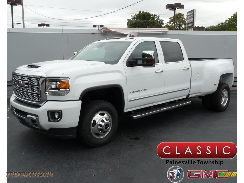 2019 Sierra 3500HD Denali Crew Cab 4WD Dual Rear Wheel - Summit White / Jet Black photo #1
