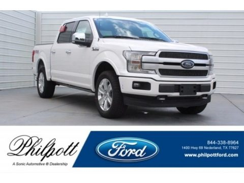 White Platinum 2018 Ford F150 Platinum SuperCrew 4x4