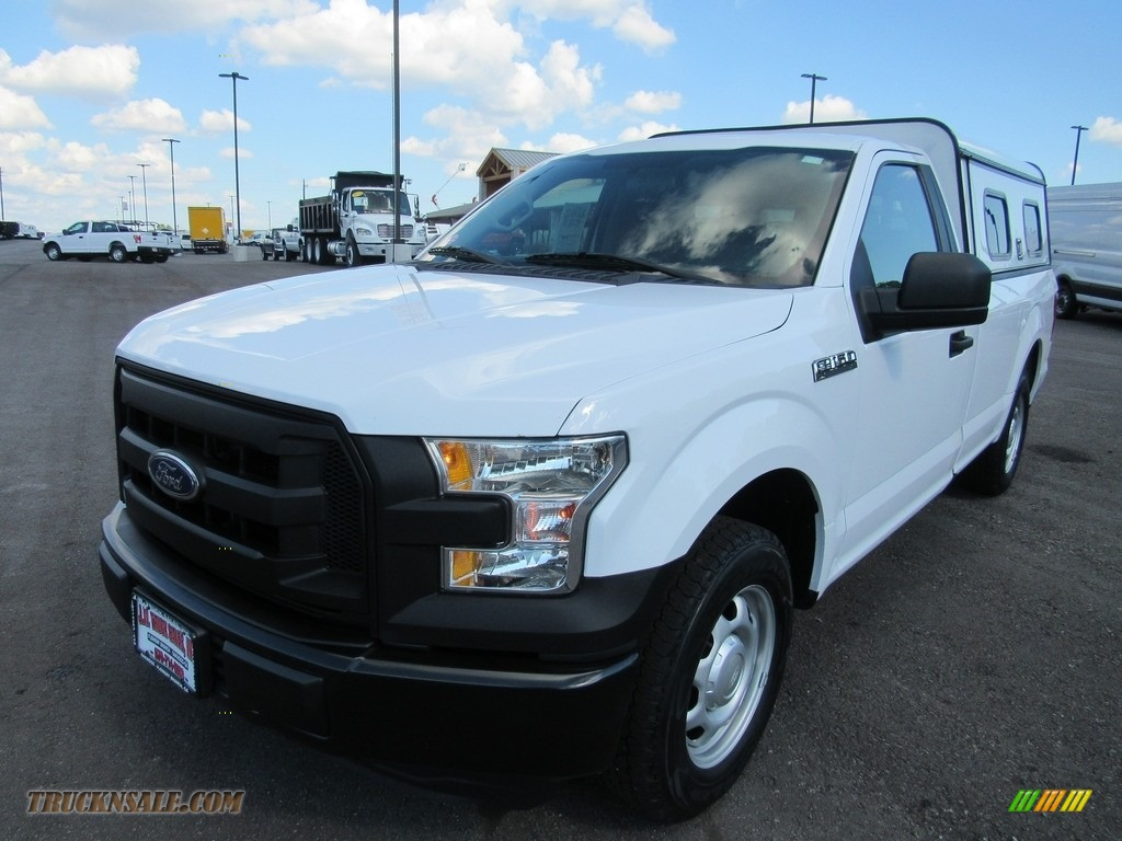 2016 F150 XL Regular Cab - Oxford White / Medium Earth Gray photo #1