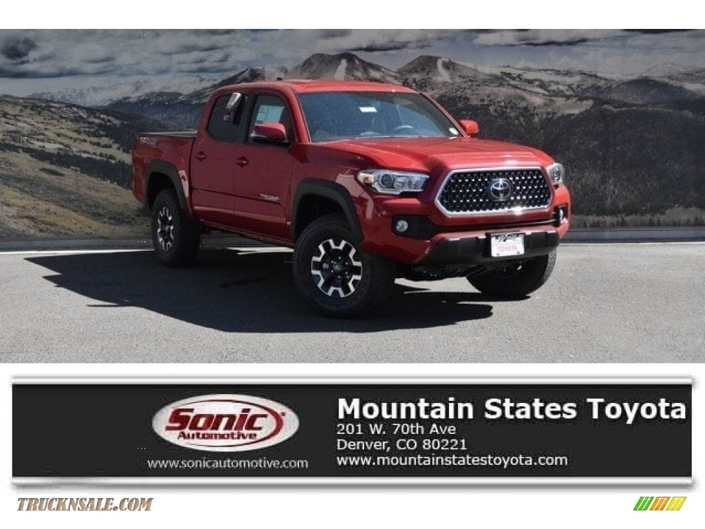 2019 Tacoma TRD Off-Road Double Cab 4x4 - Barcelona Red Metallic / TRD Graphite photo #1