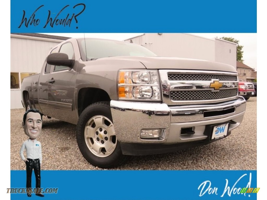 2013 Silverado 1500 LT Extended Cab 4x4 - Graystone Metallic / Ebony photo #1