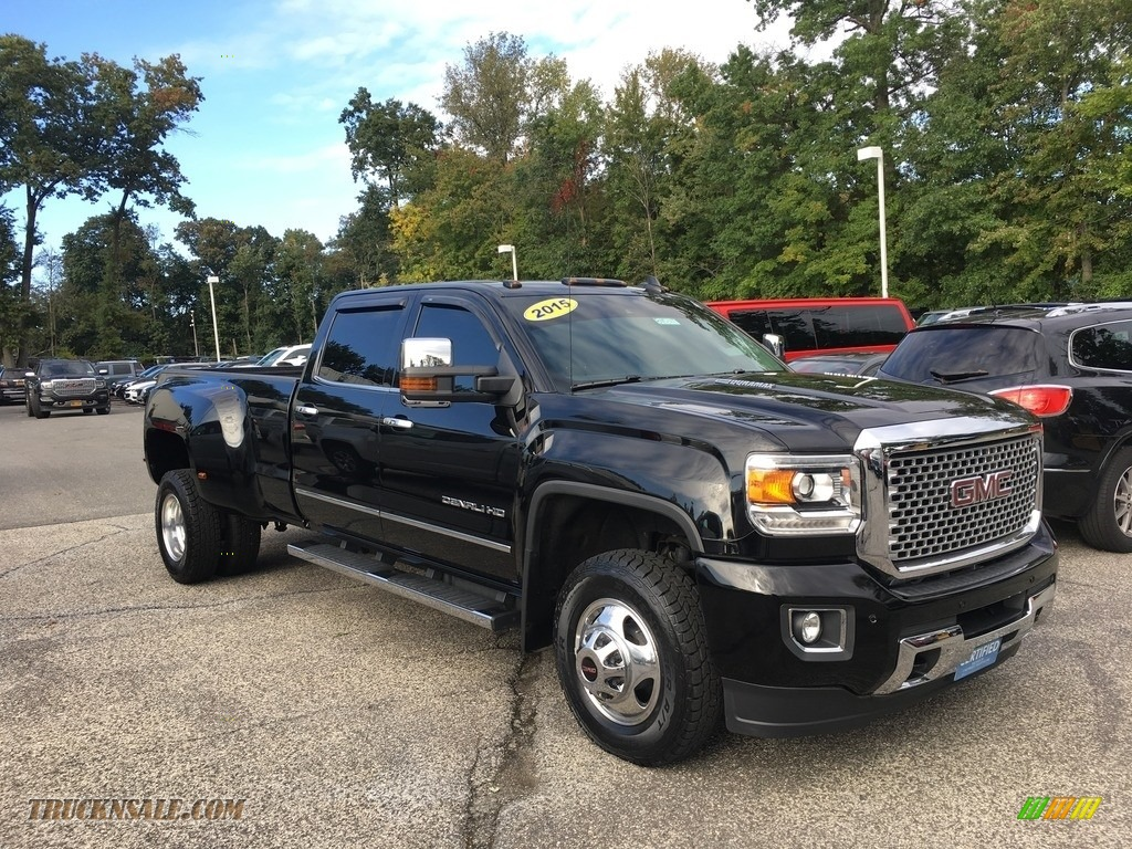 2015 Sierra 3500HD Denali Crew Cab 4x4 - Onyx Black / Denali Jet Black photo #1