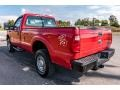 Ford F250 Super Duty XL Regular Cab 4x4 Vermillion Red photo #6