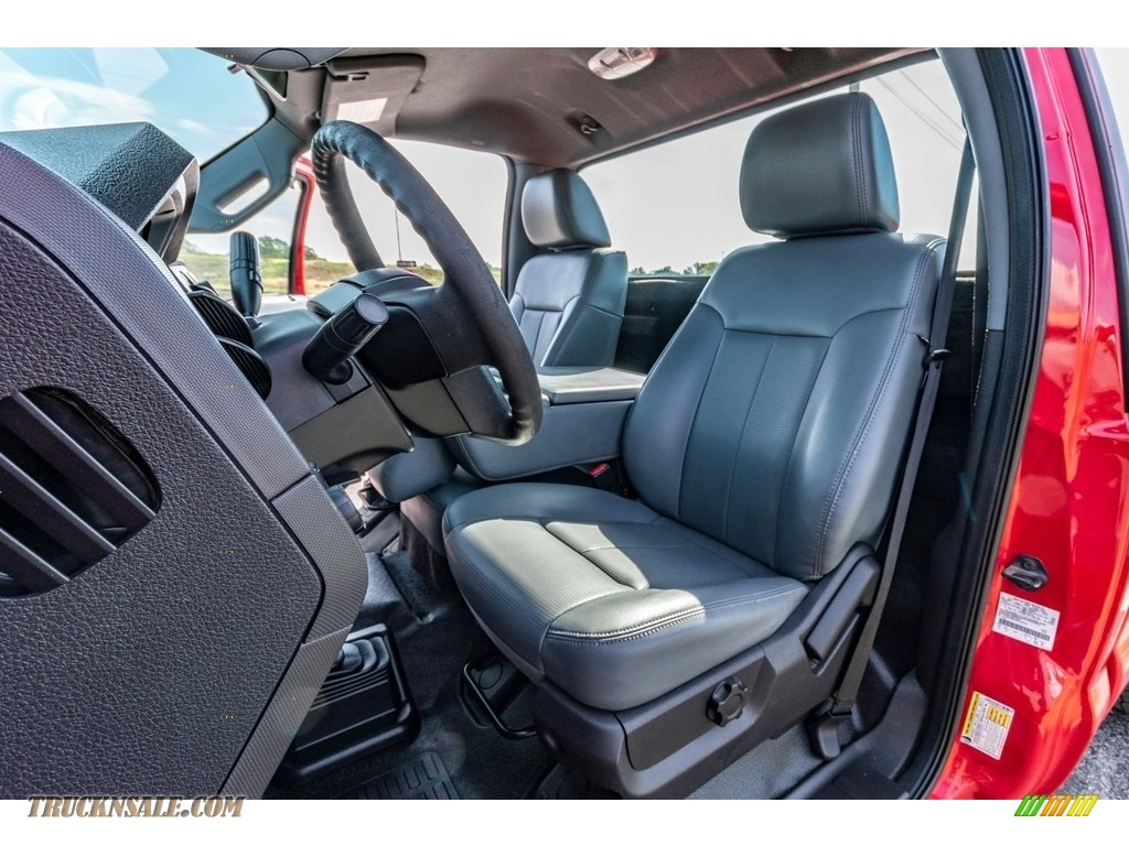 2011 F250 Super Duty XL Regular Cab 4x4 - Vermillion Red / Steel Gray photo #20