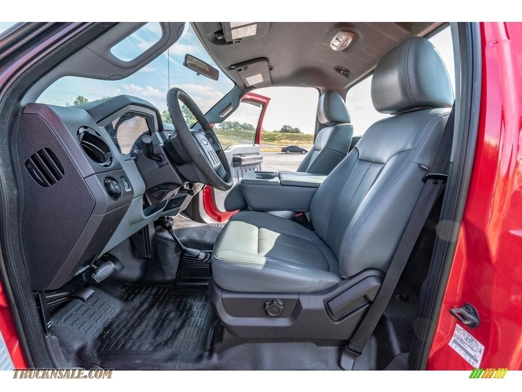 2011 F250 Super Duty XL Regular Cab 4x4 - Vermillion Red / Steel Gray photo #21