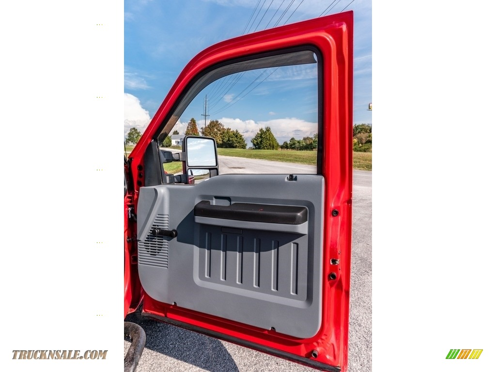 2011 F250 Super Duty XL Regular Cab 4x4 - Vermillion Red / Steel Gray photo #27