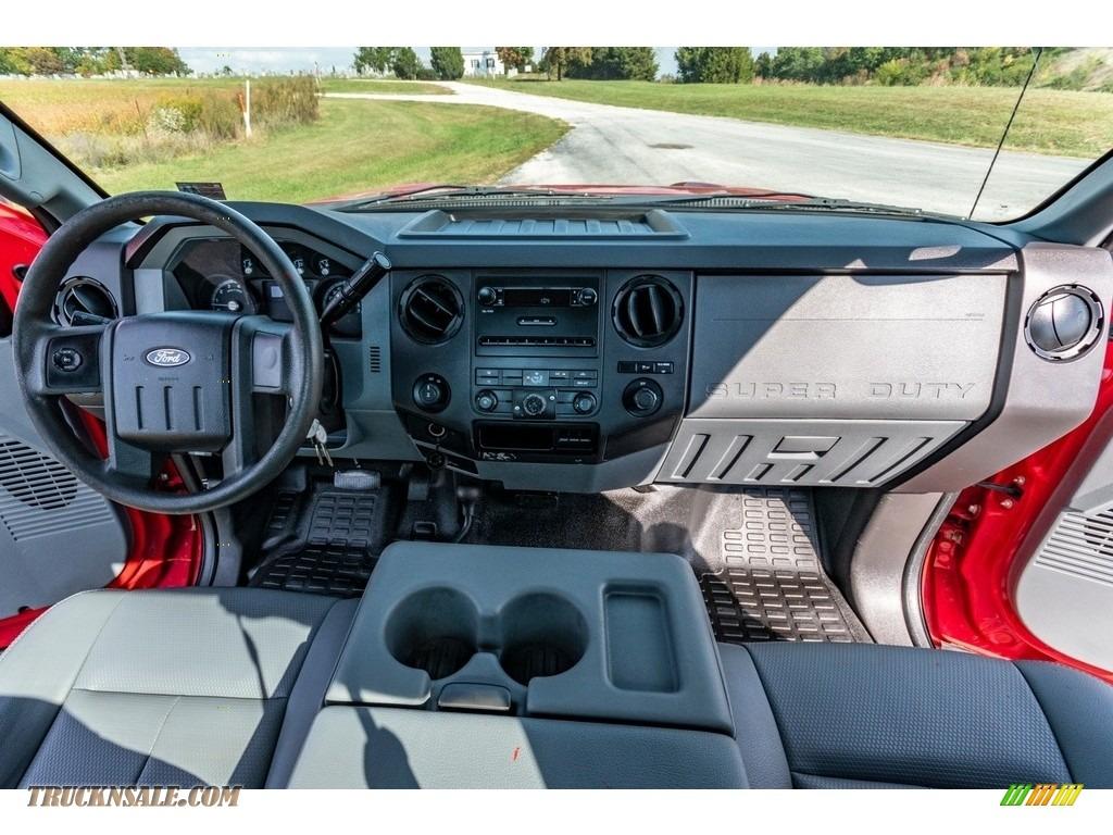 2011 F250 Super Duty XL Regular Cab 4x4 - Vermillion Red / Steel Gray photo #28