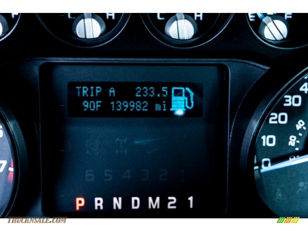 2011 F250 Super Duty XL Regular Cab 4x4 - Vermillion Red / Steel Gray photo #33