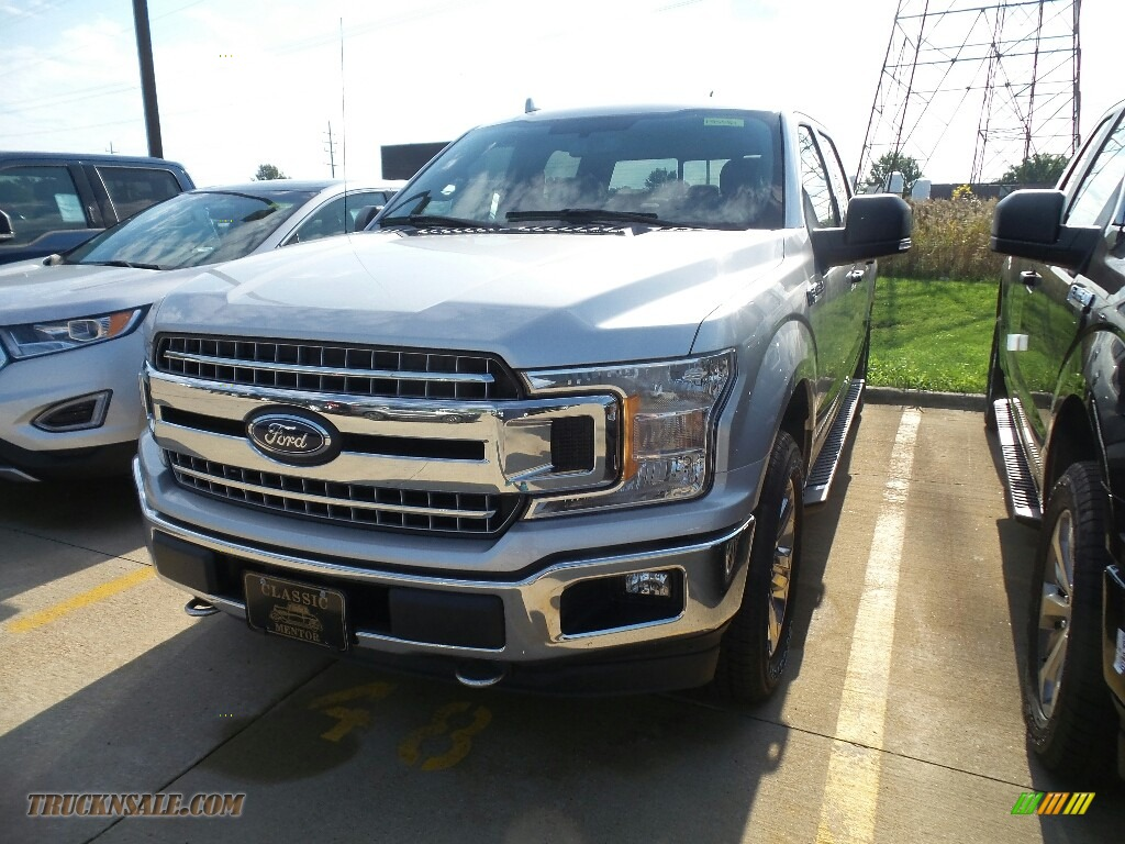 2018 F150 XLT SuperCrew 4x4 - Ingot Silver / Earth Gray photo #1