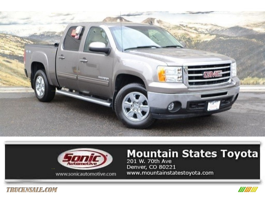 2013 Sierra 1500 SLT Crew Cab 4x4 - Mocha Steel Metallic / Very Dark Cashmere/Light Cashmere photo #1