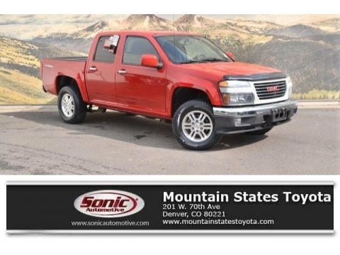 Fire Red 2011 GMC Canyon SLE Crew Cab 4x4