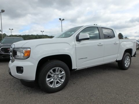 Summit White 2019 GMC Canyon SLE Crew Cab 4WD