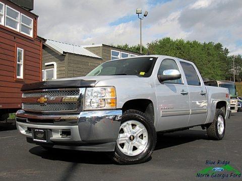 Silver Ice Metallic 2013 Chevrolet Silverado 1500 LT Crew Cab 4x4