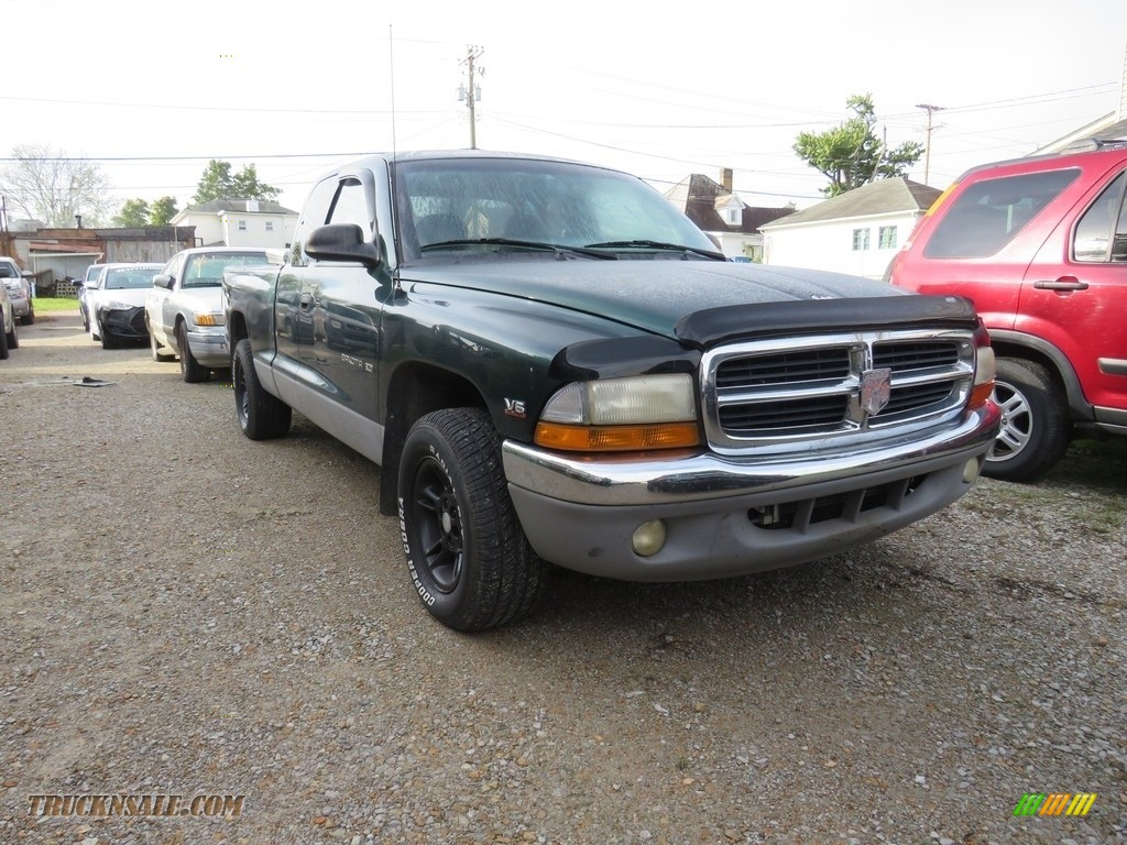 2000 Dakota SLT Extended Cab - Forest Green Pearl / Agate photo #1
