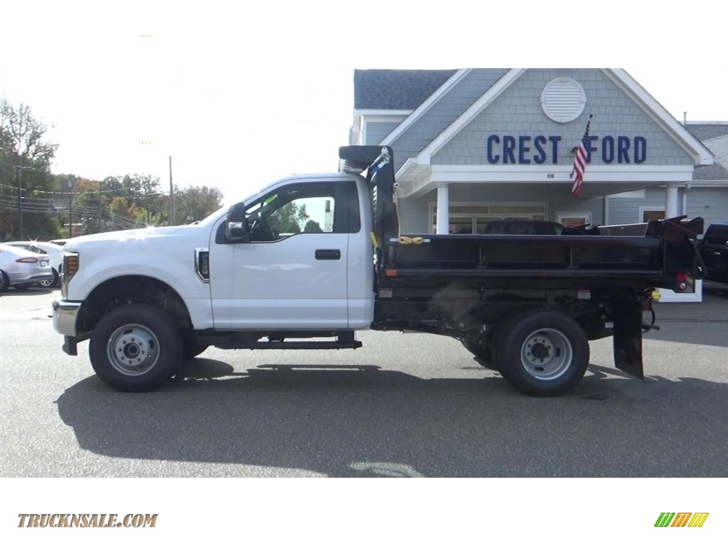 2019 F350 Super Duty XL Regular Cab 4x4 Dump Truck - Oxford White / Earth Gray photo #4