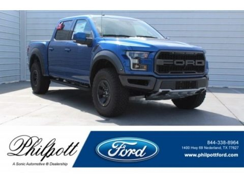 Lightning Blue 2018 Ford F150 SVT Raptor SuperCrew 4x4