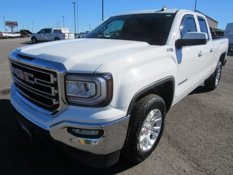 Summit White 2016 GMC Sierra 1500 SLE Double Cab 4WD