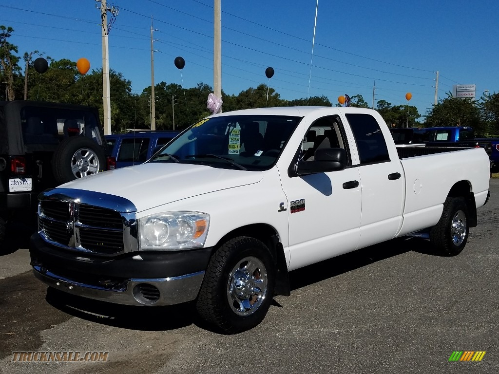 2008 Ram 2500 ST Quad Cab - Bright White / Medium Slate Gray photo #1