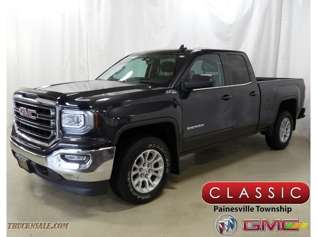 2016 Sierra 1500 SLE Double Cab 4WD - Iridium Metallic / Jet Black photo #1