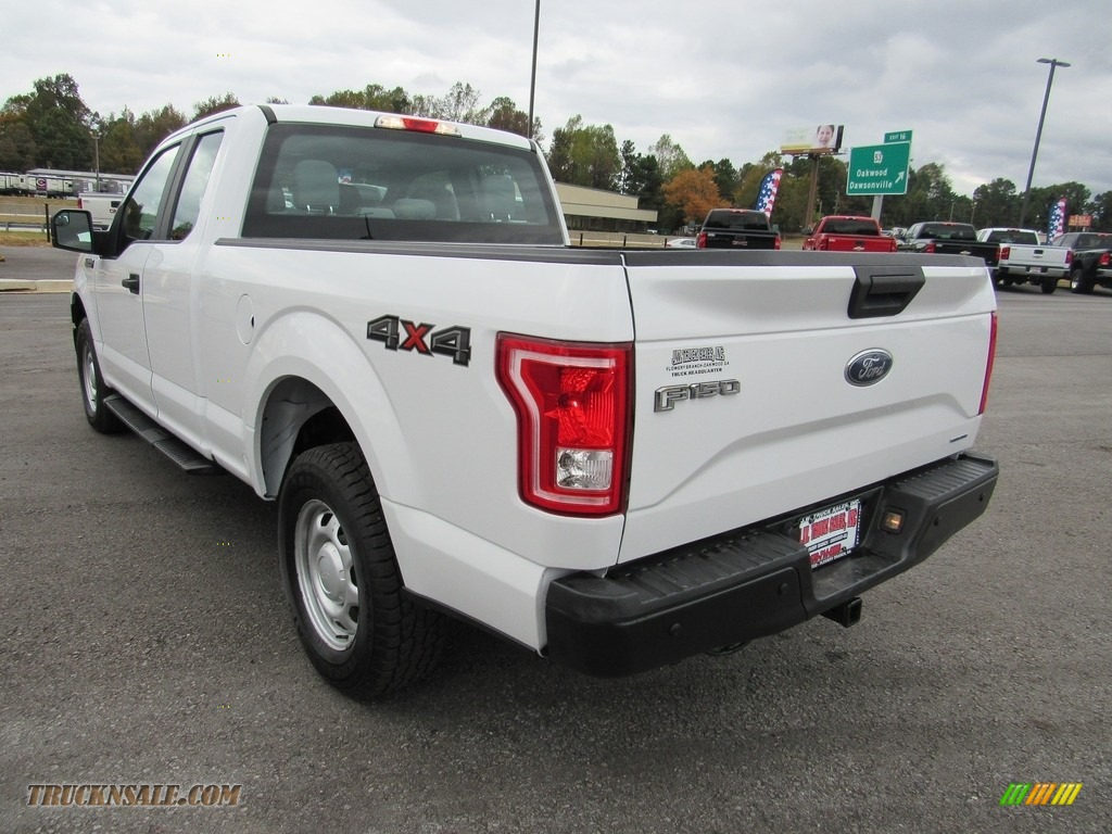 2016 F150 XL SuperCab 4x4 - Oxford White / Medium Earth Gray photo #3