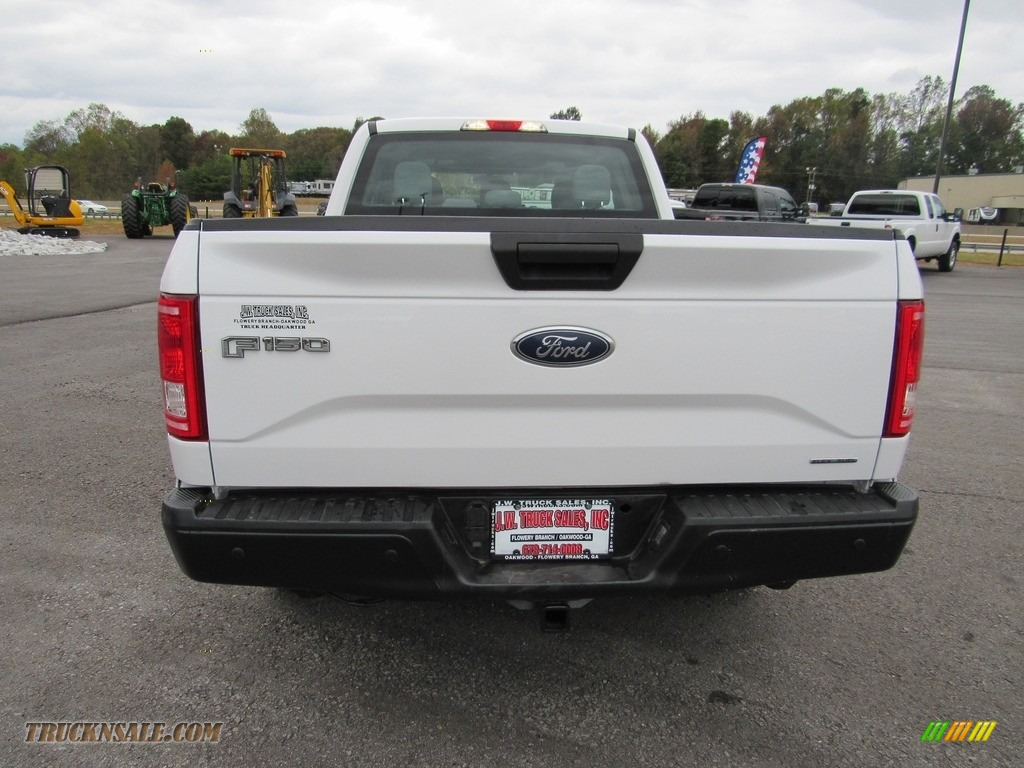 2016 F150 XL SuperCab 4x4 - Oxford White / Medium Earth Gray photo #4
