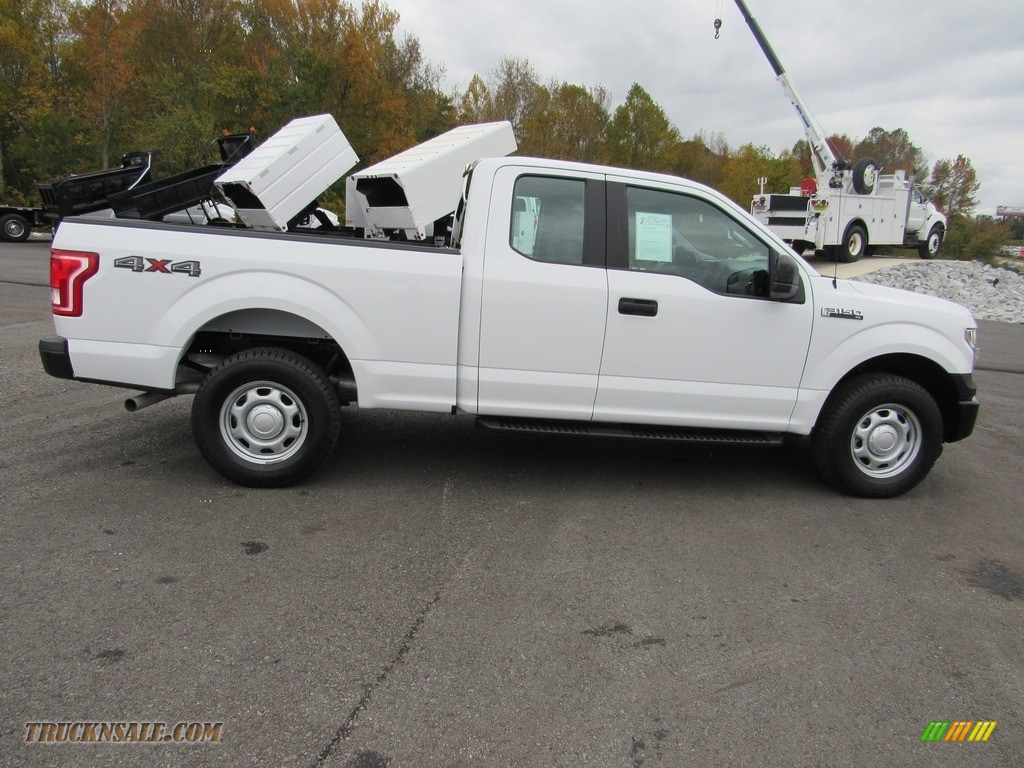 2016 F150 XL SuperCab 4x4 - Oxford White / Medium Earth Gray photo #6