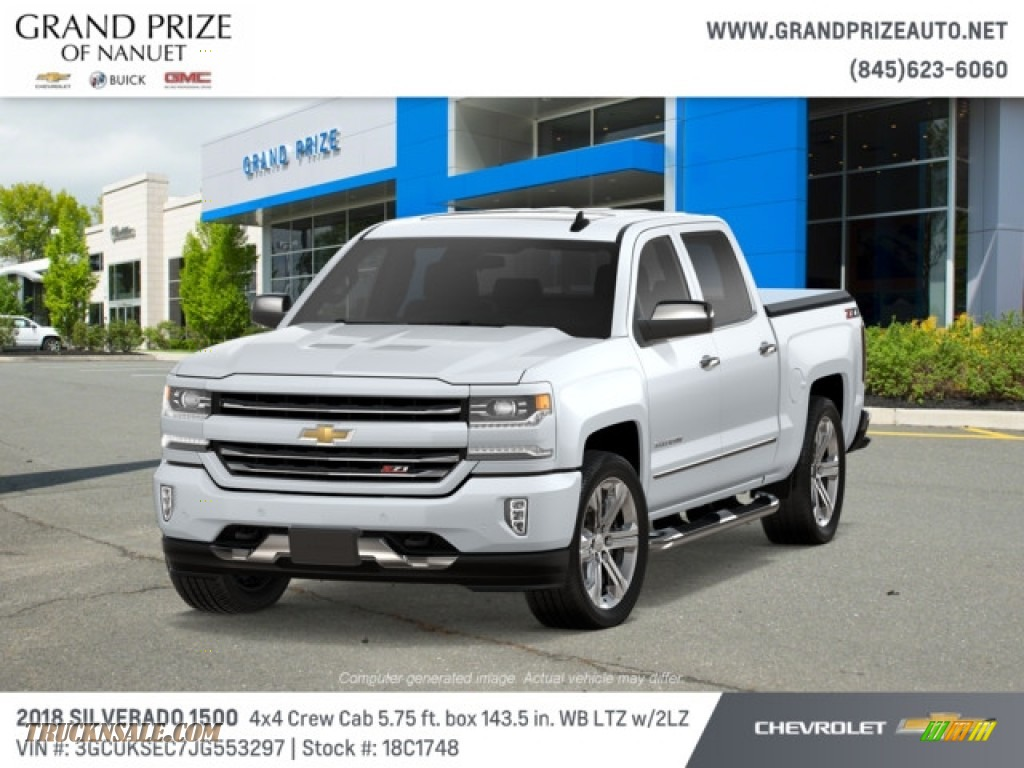 2018 Silverado 1500 LTZ Crew Cab 4x4 - Summit White / Jet Black photo #1