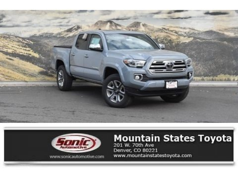 Cement Gray 2019 Toyota Tacoma Limited Double Cab 4x4