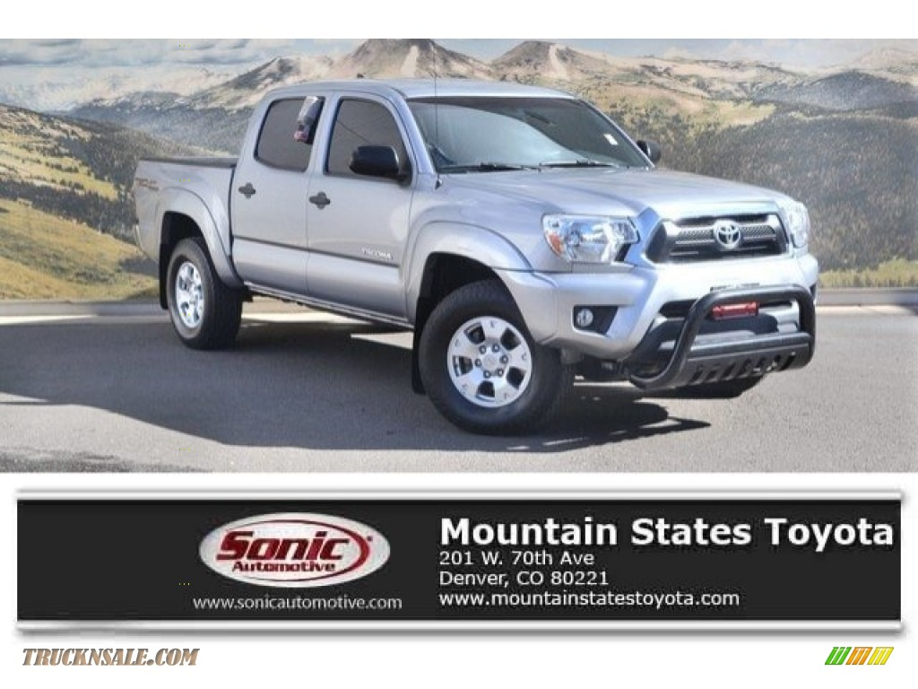 2015 Tacoma V6 Double Cab 4x4 - Silver Sky Metallic / Graphite photo #1
