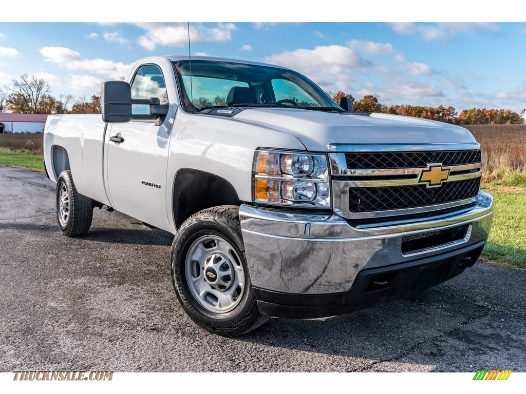 2012 Silverado 2500HD Work Truck Regular Cab 4x4 Plow Truck - Summit White / Dark Titanium photo #1