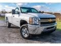 Chevrolet Silverado 2500HD Work Truck Regular Cab 4x4 Plow Truck Summit White photo #1