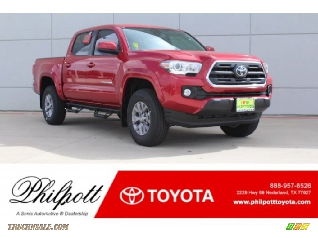 2019 Tacoma SR5 Double Cab - Barcelona Red Metallic / Black photo #1