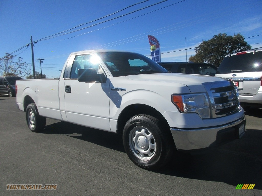Oxford White / Steel Gray Ford F150 XL Regular Cab