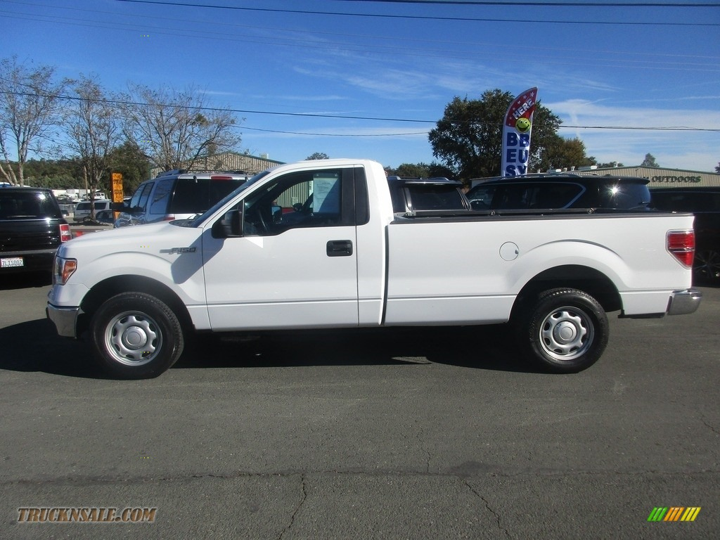 2013 F150 XL Regular Cab - Oxford White / Steel Gray photo #4