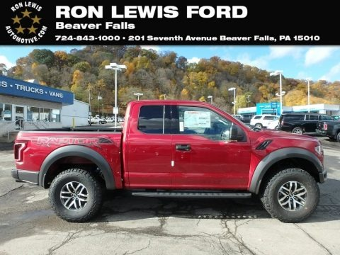 Ruby Red 2018 Ford F150 SVT Raptor SuperCab 4x4