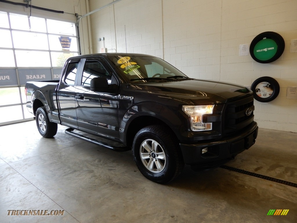 2016 F150 XL SuperCab 4x4 - Lithium Gray / Medium Earth Gray photo #1