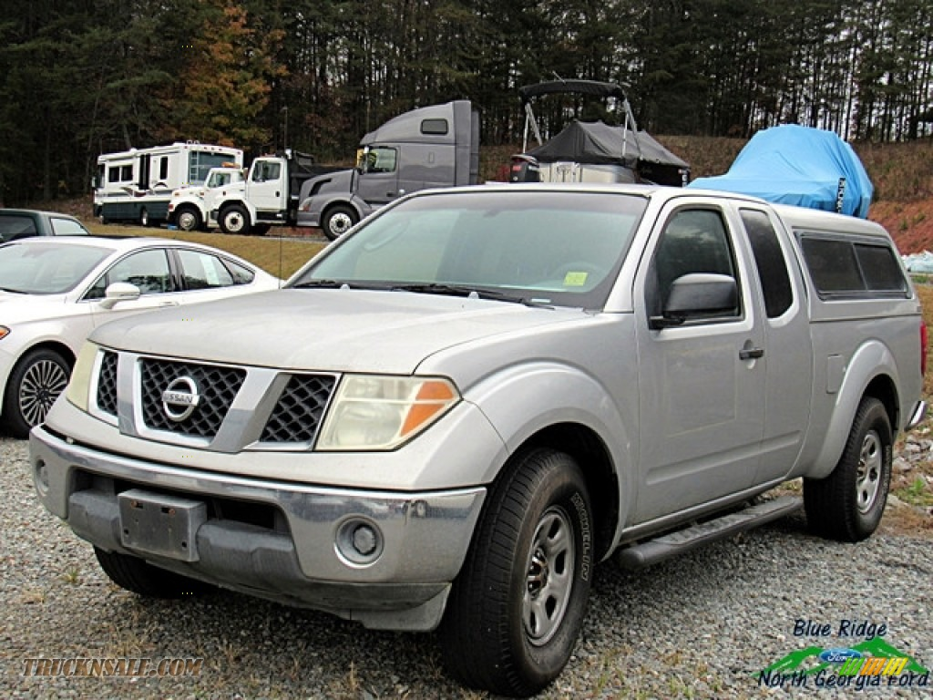 2007 Frontier XE King Cab - Radiant Silver / Steel photo #1