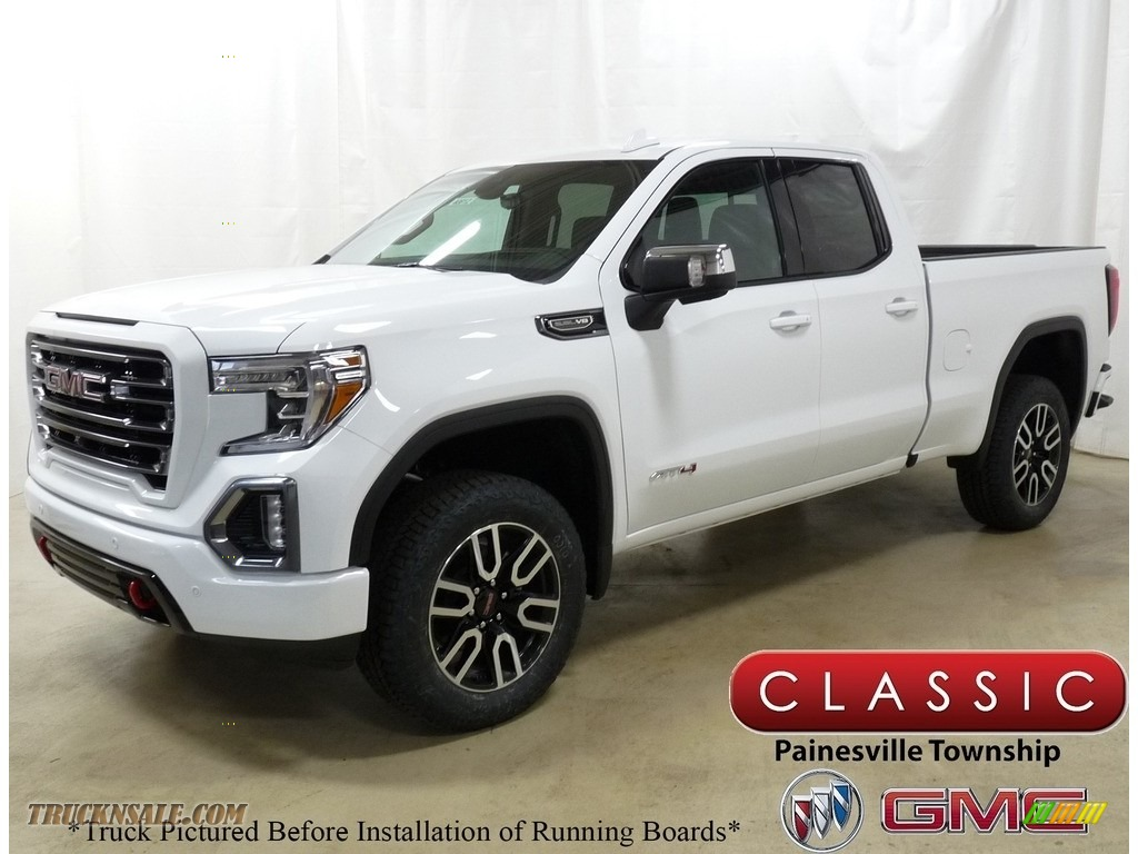 Summit White / Jet Black GMC Sierra 1500 AT4 Double Cab 4WD