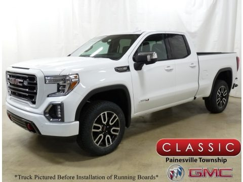 Summit White 2019 GMC Sierra 1500 AT4 Double Cab 4WD