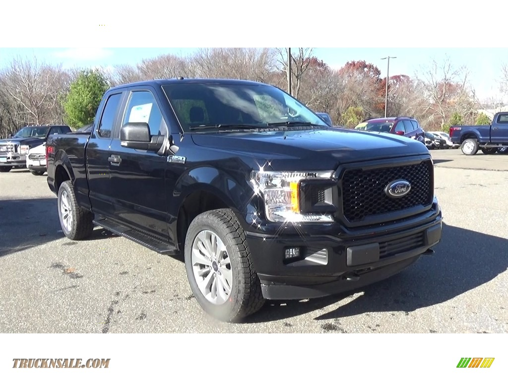 2018 F150 XL SuperCab 4x4 - Shadow Black / Earth Gray photo #1