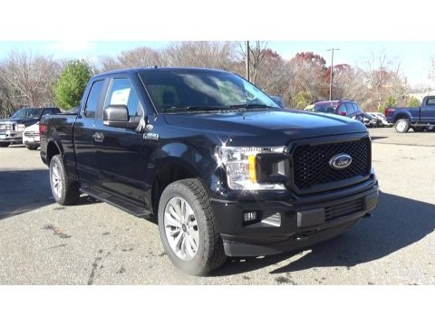 Shadow Black 2018 Ford F150 XL SuperCab 4x4